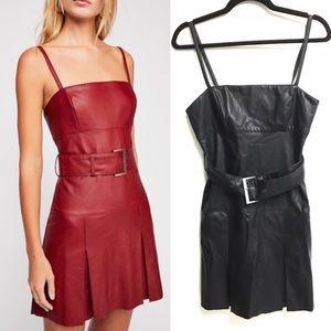 FREE PEOPLE Vegan / Faux Leather Dress Black 4